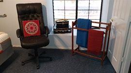Office Chair, Quilt rack