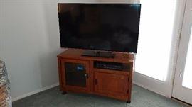 "TV Stand, JVC 55"" LED Smart TV"