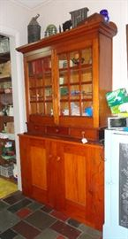 Two piece step back cupboard.