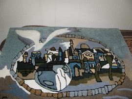 Original Israeli artist made wall hanging rug