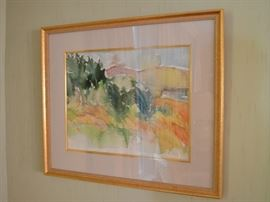 Watercolor signed E. Perry