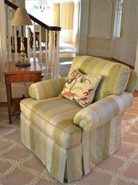Kravet Furniture striped armchair