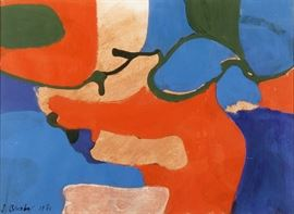 James Brooks, 1906-1992, Abstract Painting