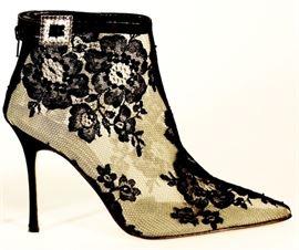 Manolo Blahnik Lace Boots Shoes