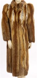 Red Fox Full Length Fur Coat