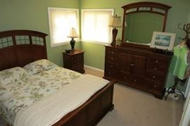 Ashley Furniture With A Mission Style Glass Accent That Gives This 3 Piece Bedroom Set That Impressive Look!