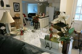 Just One View Of The Many Everyday And Formal Dishware And Glassware!