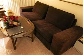 Ikea Nice Length Dark Brown Heavy Gauge Corduroy With Dense Form Full Covered Cushions For A Comfort Sitting