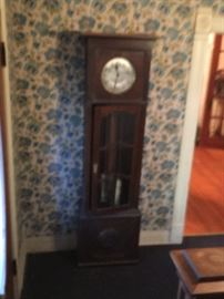 Fuzzy pic of a classic grandfather clock! Maybe it should chime the hour in your house!!