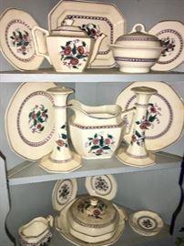 A set of English pottery