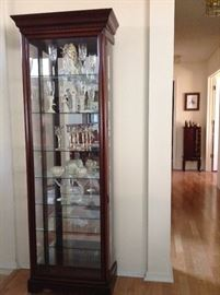 Very Nice Curio Cabinet- opens from the sides