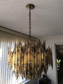 Mid century Brutalist hanging lamp