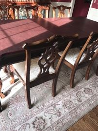"""STANLEY LONG DINING TABLE WITH 8 CHAIRS 100"""" LONG X 45"""" WIDE X 30"""" TALL  MSRP $8,000"""