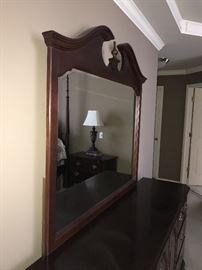 """STANLEY DRESSER WITH MIRROR 72"""" X19"""" DEEP AND 34"""" TALL"""