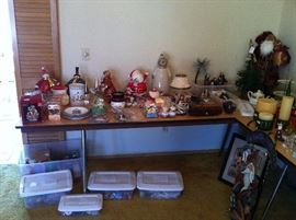 Christmas decorations, collectibles, nutcrackers