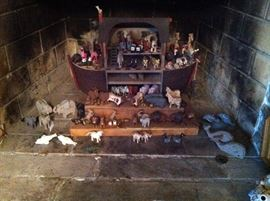 Barry Groscup Millwood Toys hand-carved and signed Noah's Ark Set