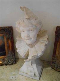 "carved marble, Alphonse Van Beurden, date 1888, 24""H"