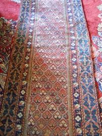 Wool Runner, Handknotted, approx. 12'L (frayed on 1 end)