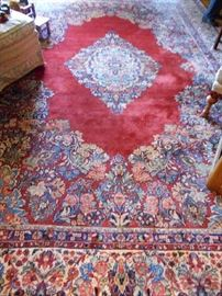 Wool, Handknotted, 15'L x 10'W approx., thick pile, (some wear on one end)