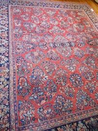 """Wool, Handknotted, Sourok style rug, 10' x8'6"""" approx., good condition"""