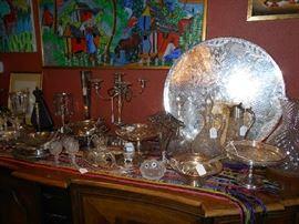 Victorian Silverplate  & Crystal Tablewares