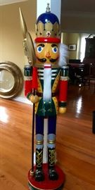 Holiday Greetings with this life size Nutcracker!