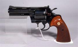 "Colt Python Revolver, .357 Magnum .38 SPL, SN# 81298, 4"" Barrel, Original Box"