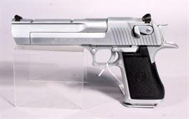 Magnum Research Desert Eagle .50AE Matte Chrome Pistol, .44 Magnum, SN# 30200166, Israel Military Industries LTD, Hardcase