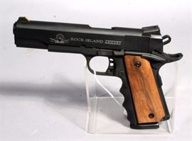 Rock Island Armory 1911 FS-Tactical Model Black Pistol, .45ACP, SN# RIA1505015, 3 Mags, Hard Case, Low Profile Leather Holster