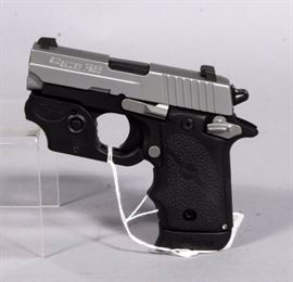 Sig Sauer P238 Conceal & Carry Pistol, .380 Auto, SN# 27B059399, Laser Sight, 2 Mags, Hard Case, Conceal Holster