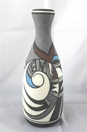 Hopi Bird by Desert Pueblo Pottery, hand painted porcelain.
