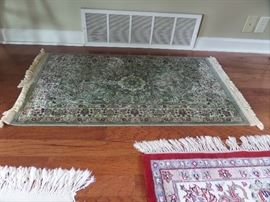 small, oriental area rug, 24 x 54 inches, like new condition