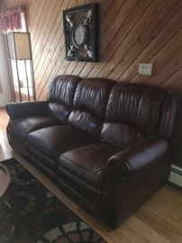Pair leather sofas....like new