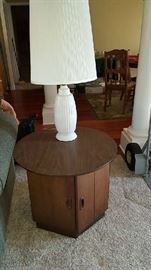 Mid century end table.