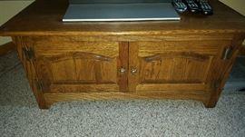 Oak media cabinet - $80