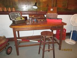 Vintage Drafting Table   would make a great kitchen island