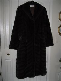 Full length Sable Brown Mink Fur