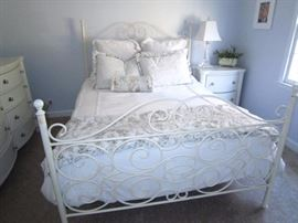 Queen metal bed-frame only