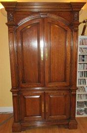 Solid oak armoire