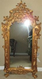 Large carved, gilt mirror from the French embassy in DC