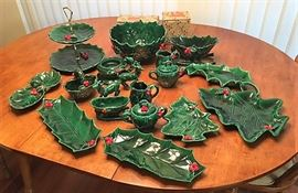 Lefton Japan holly set 20+ pieces