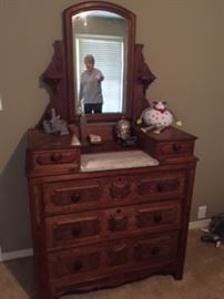 Antique Vanity with marble