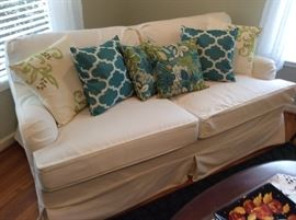 Hideaway white sofa, pillows sold separately