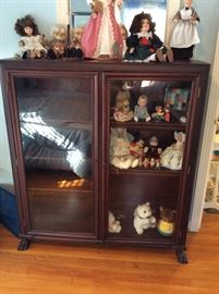 Antique Mahogany bookcase with claw feet