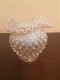 Fenton French opalescent hobnail vase