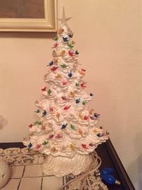 Lighted ceramic tree -- it works!