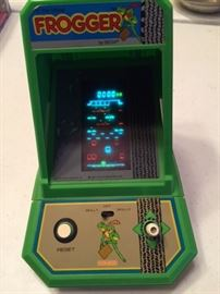 Original tabletop Frogger video game --  front view