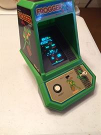 Original tabletop Frogger video game -- side view