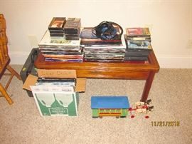 LASER DISC, RECORDS, MOVIES