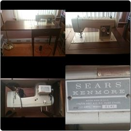 1960's Sears Kenmore Sewing Machine in Cabinet. Has users manual. In beautiful condition.